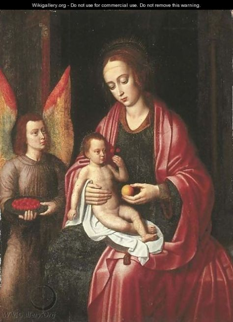 La Vergine e il Bambino assistiti da un Angelo con una coppa di ciliegie